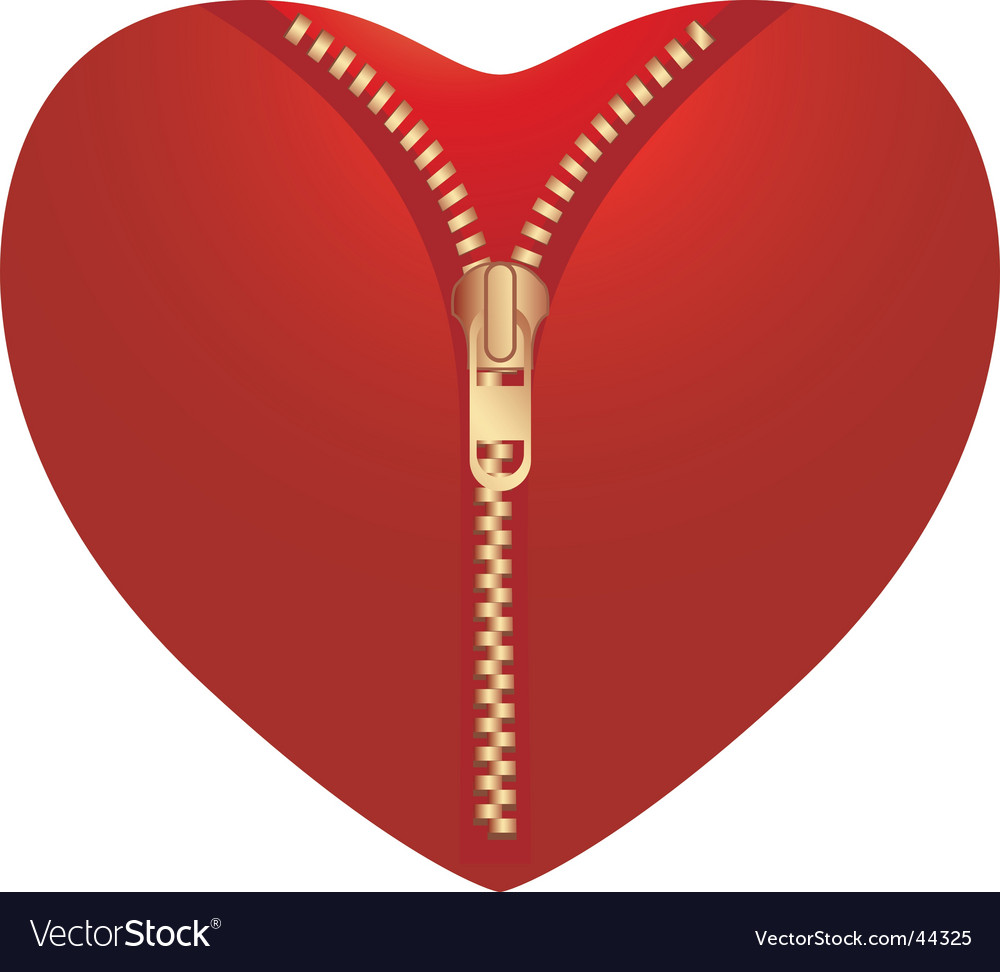 Open heart vector
