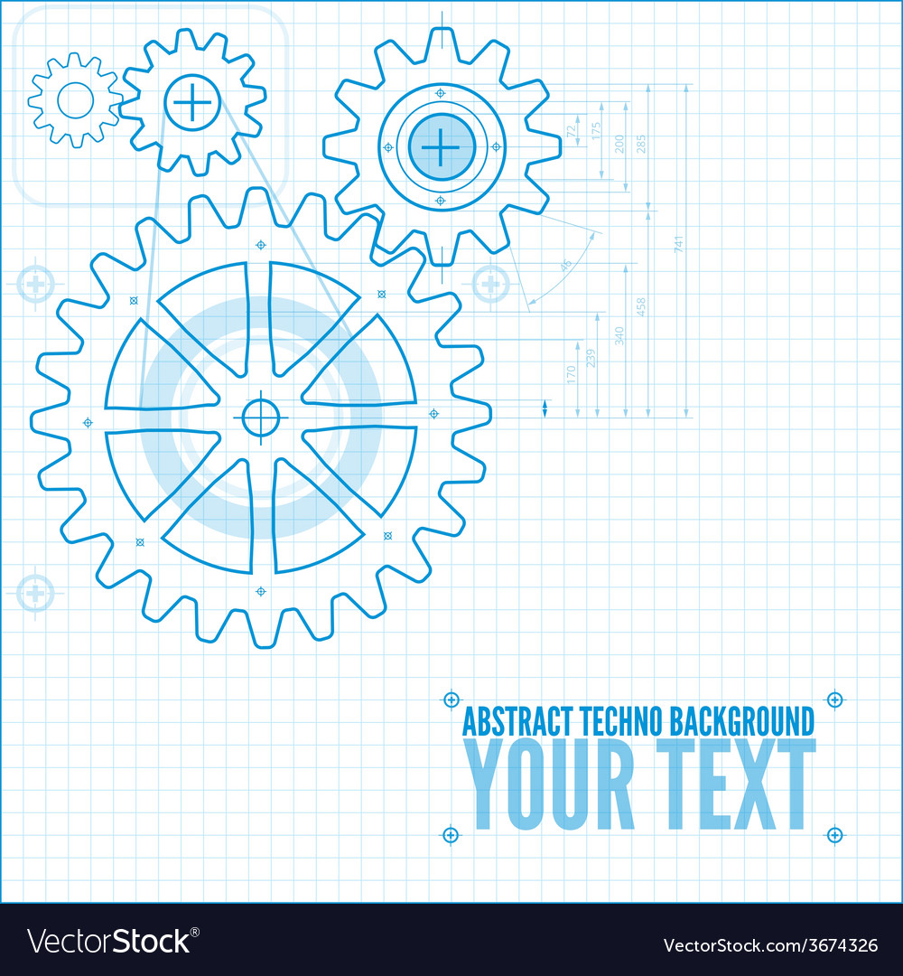 Technical blueprint vector