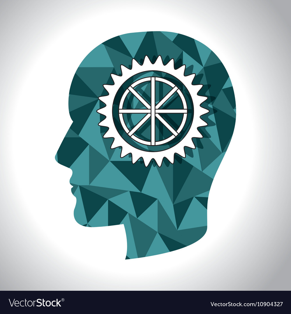 Human head profile vector