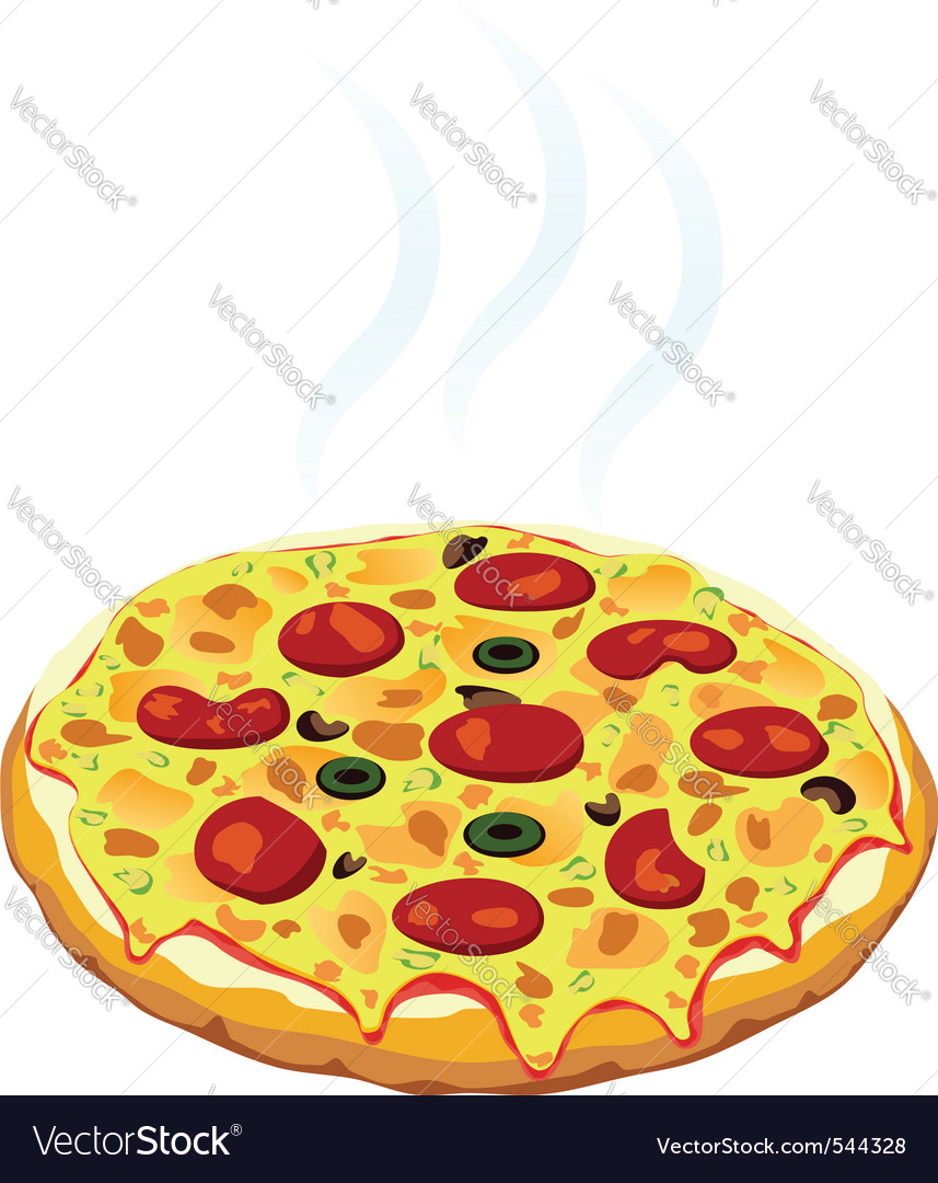 Hot italian pizza vector