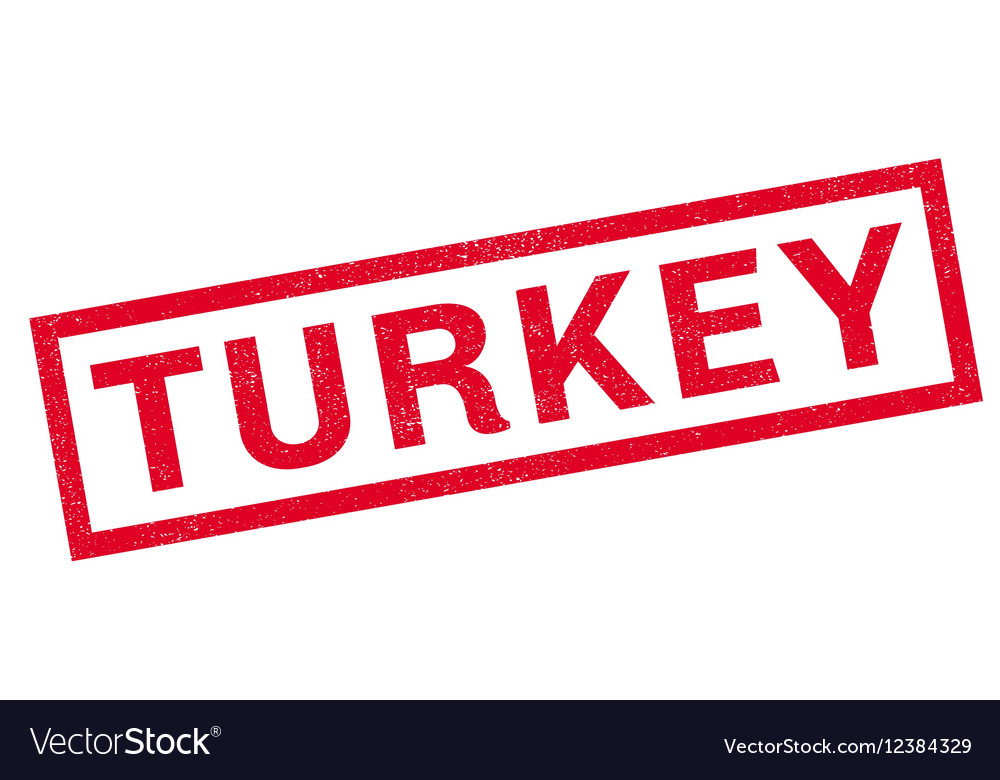 Turkey rubber stamp vector