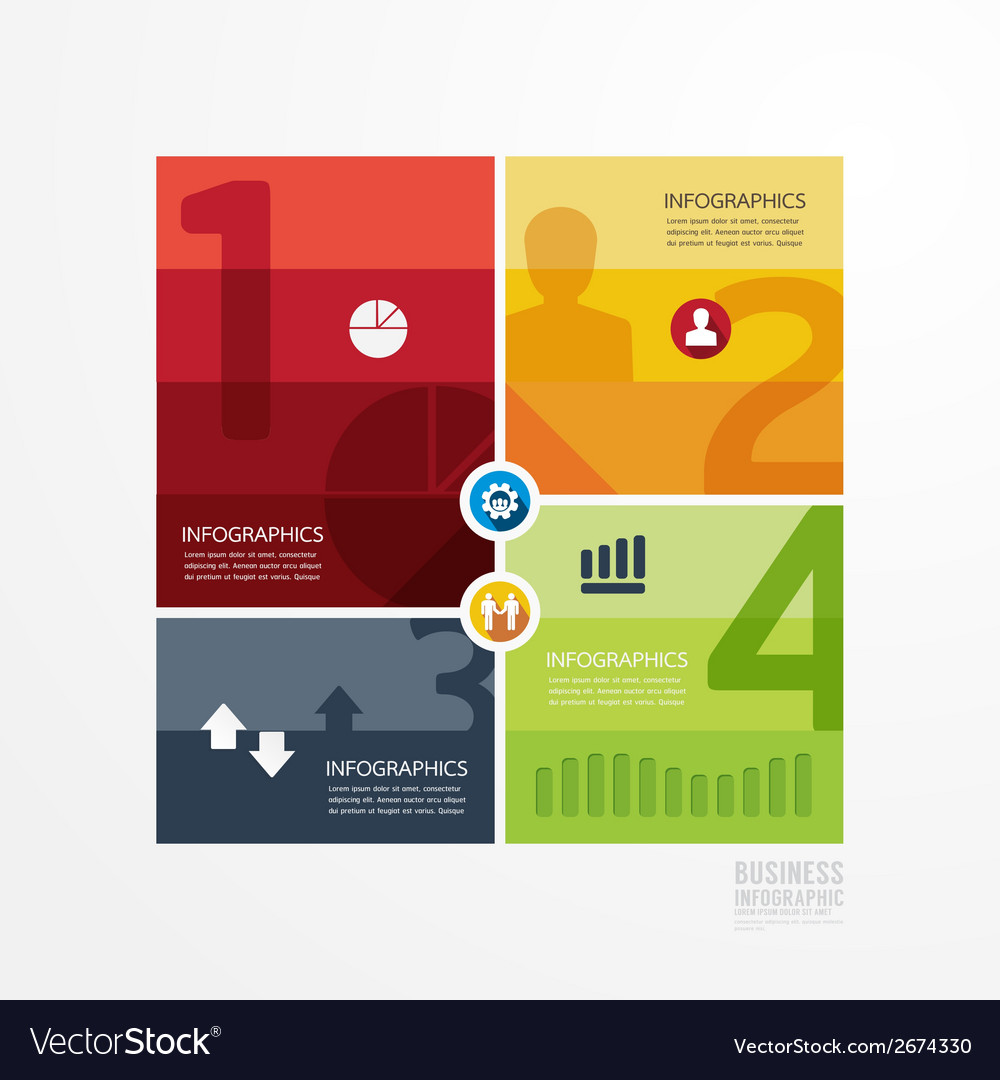 Modern design info graphic template vector
