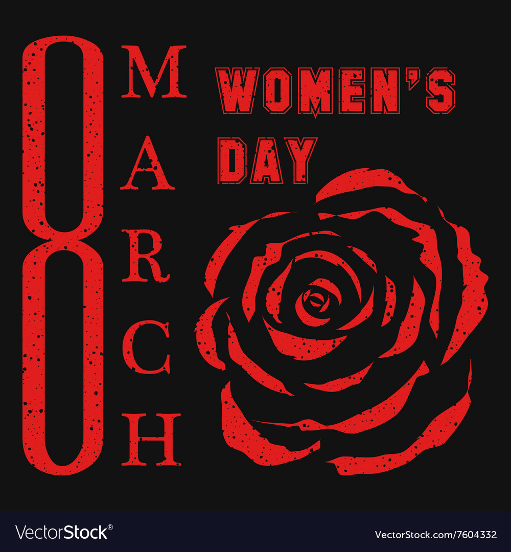 8 march womens day design vector