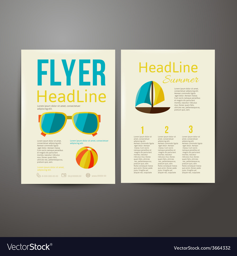 Brochure advertising for your summer business vector