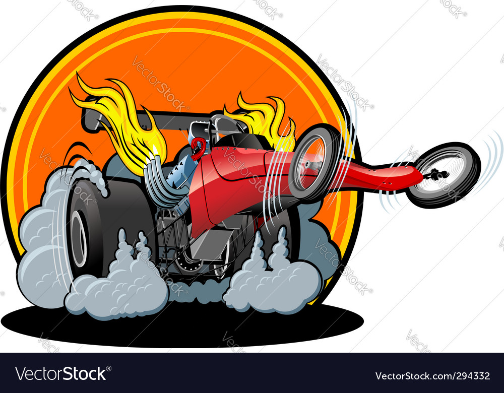 Cartoon dragster vector