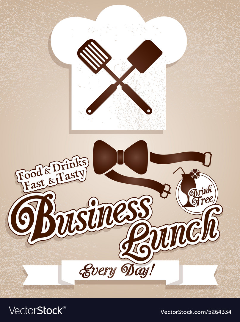 Business lunchmenu vector