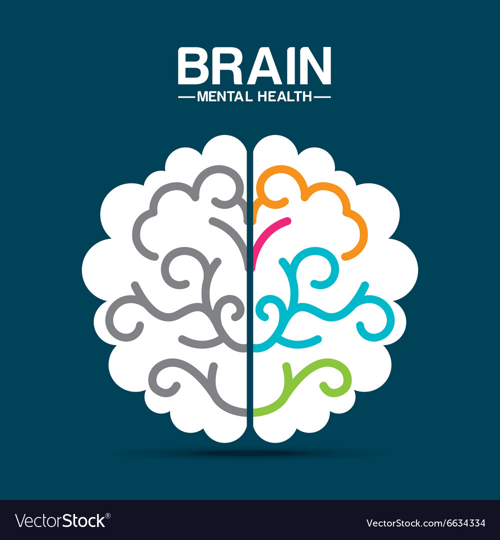 Mental health design vector