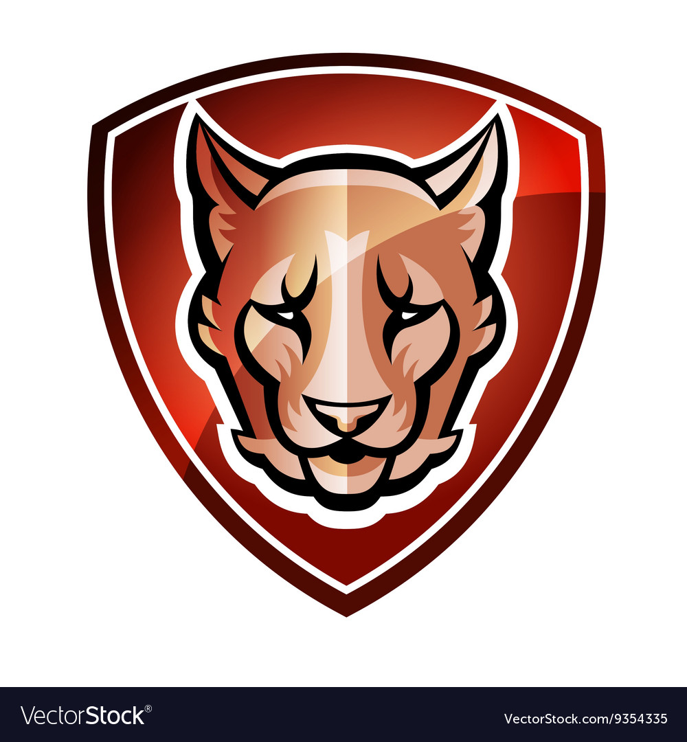 Mascot shield vector