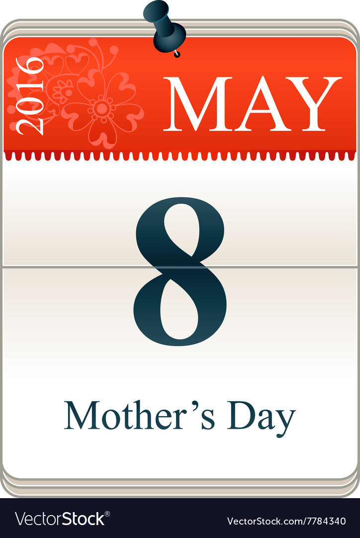 Calendar of mothers day vector