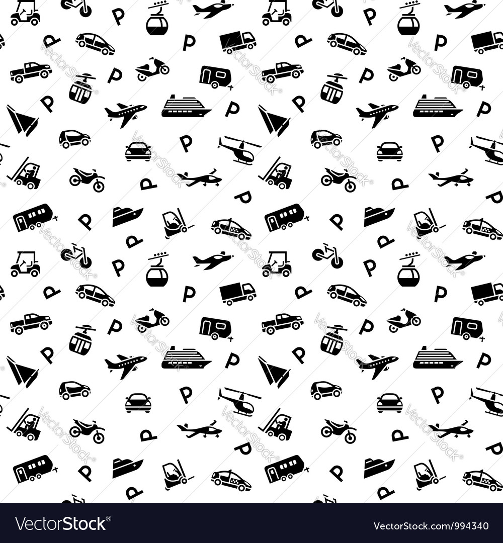 Seamless backdrop transport icons  10eps vector