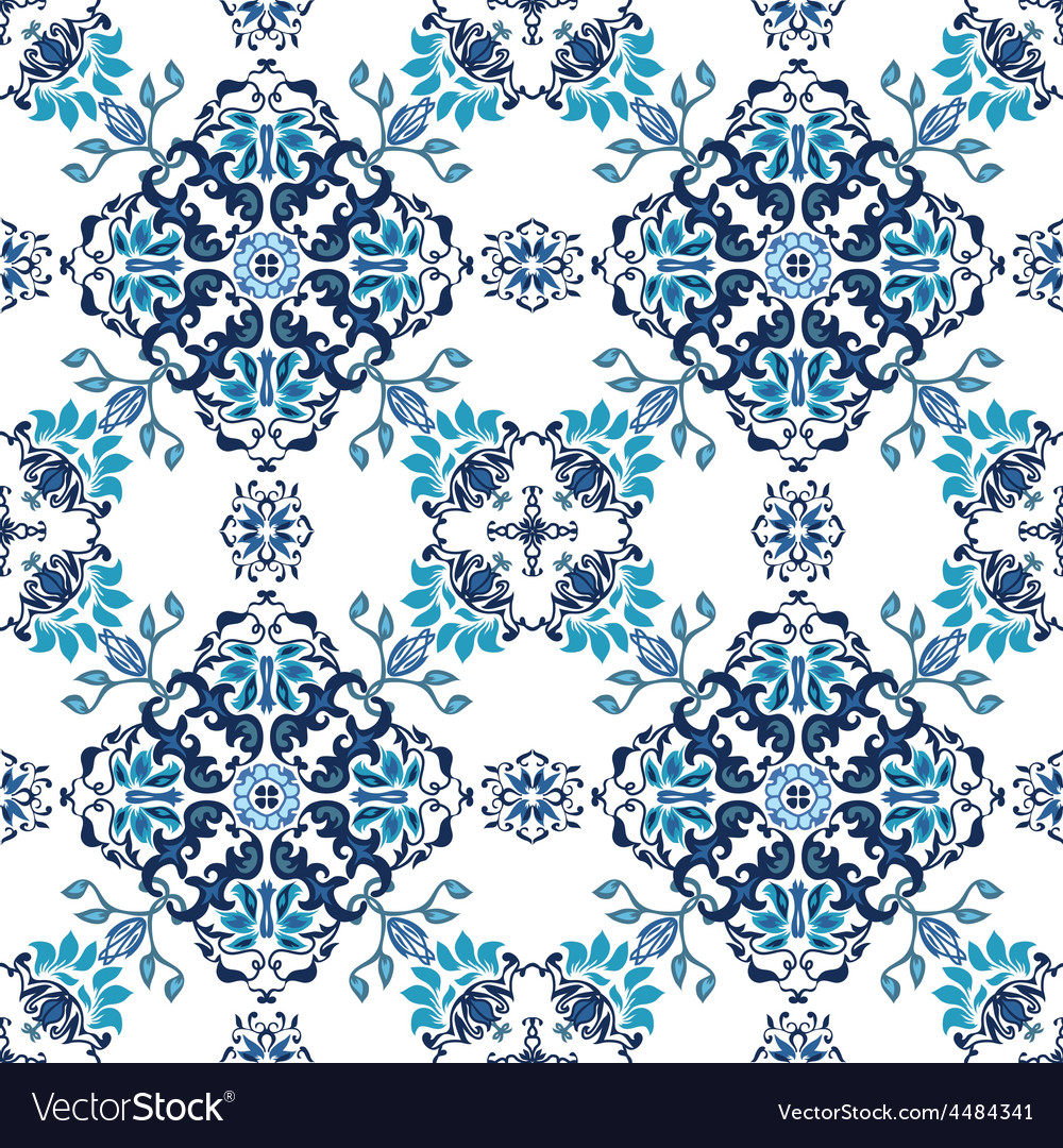 Seamless abstract floral pattern for fabric vector