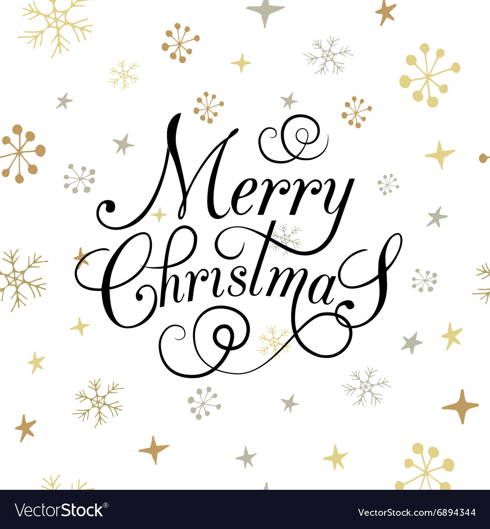 Flat design stlye christmas card with snowflakes vector