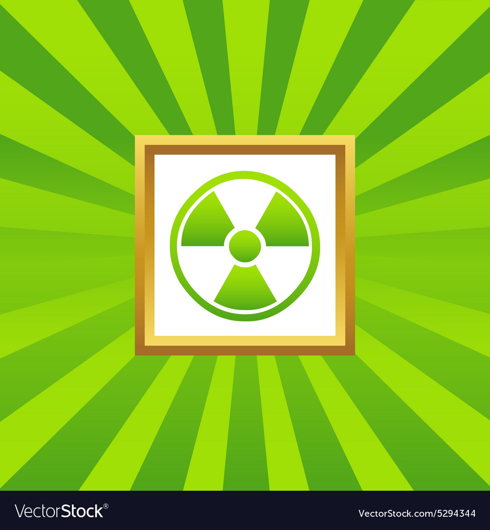 Hazard picture icon vector