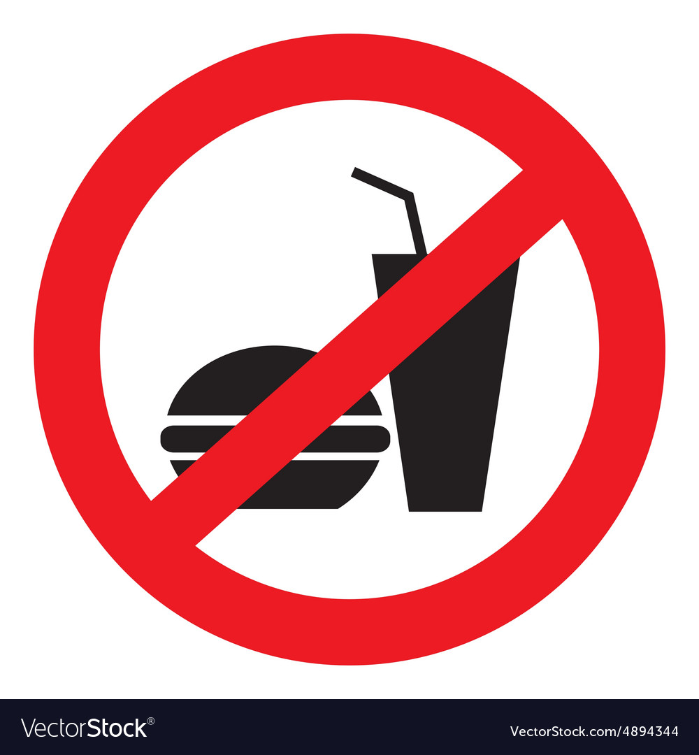 Icon ban food vector