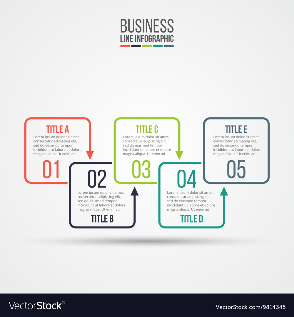 Thin line flat elements for infographic vector