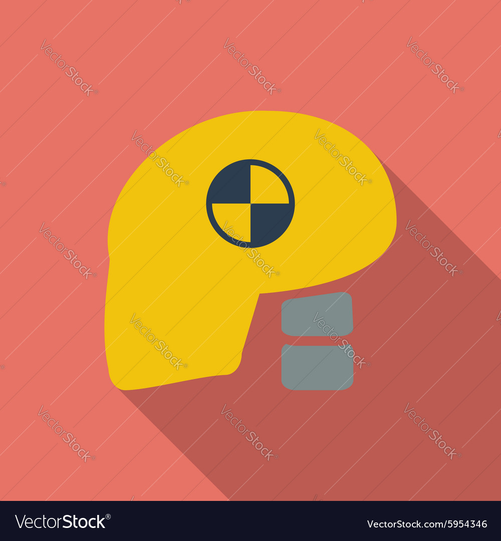 Icon dummy head for crash test vector