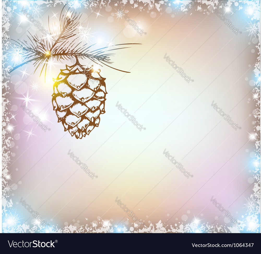 Shining christmas background vector