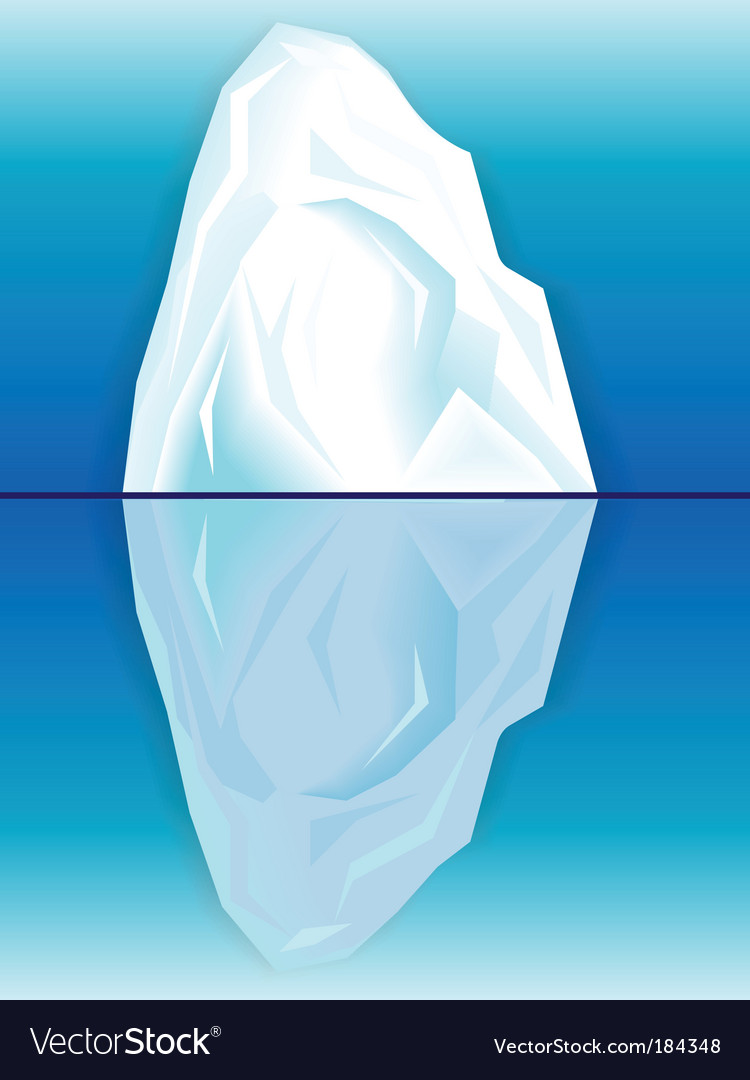 Iceberg and its reflection vector