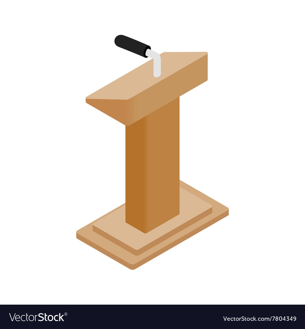 Wooden podium tribune rostrum stand vector
