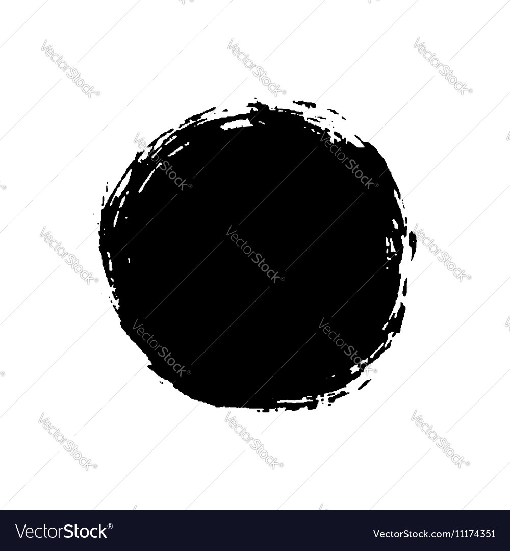 Grunge background circle black vector