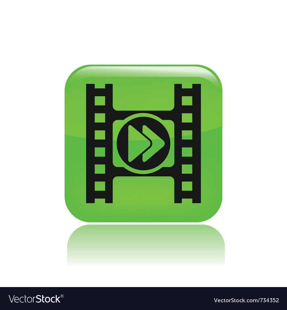 Isolated video player vector