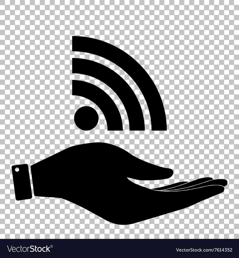 Rss sign flat style icon vector