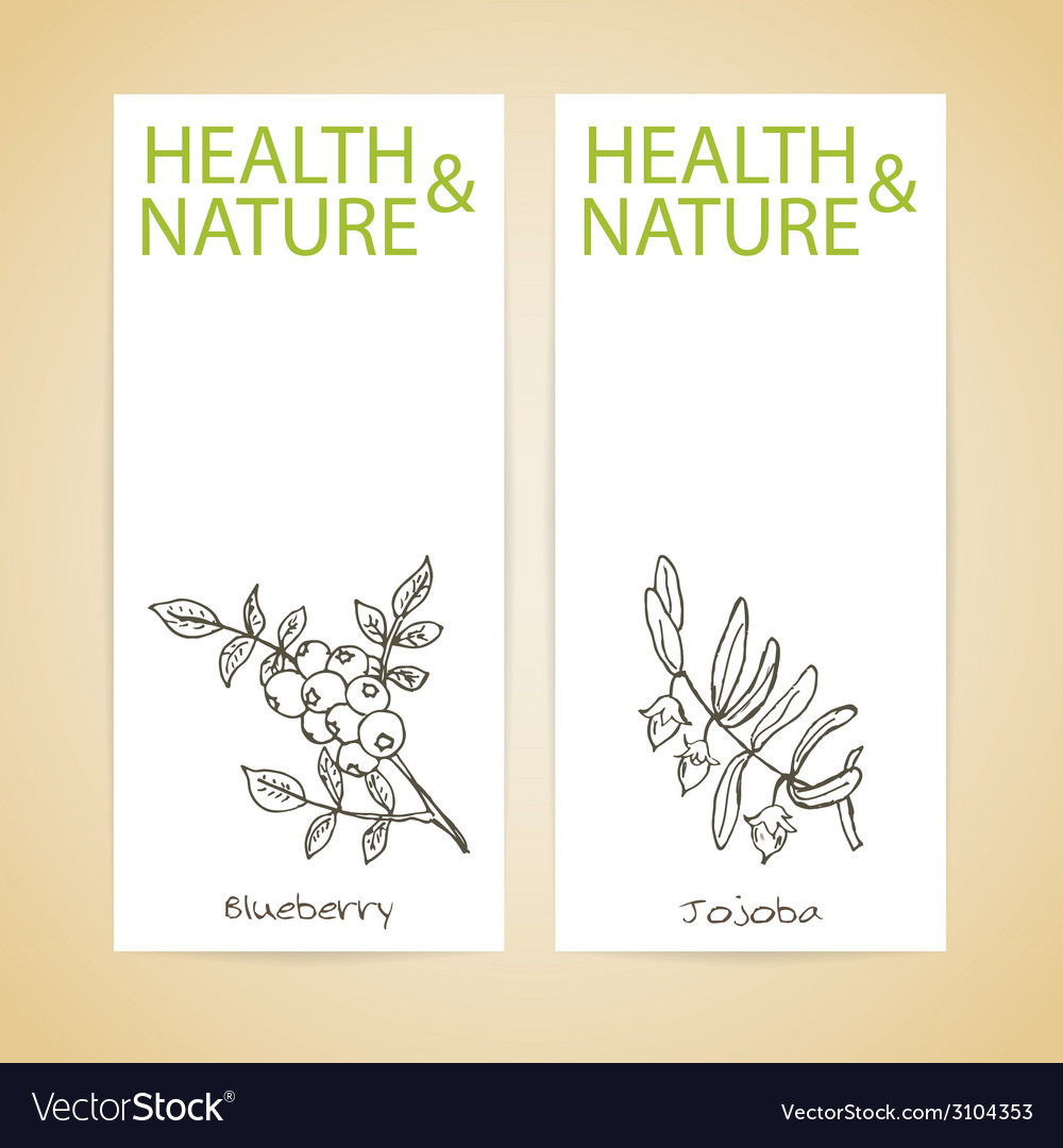 Banner set  health and nature vector