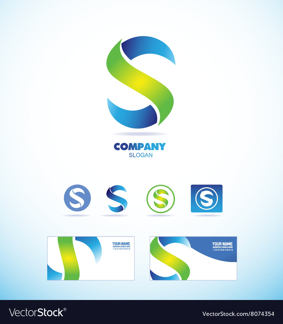 Letter s logo icon set vector