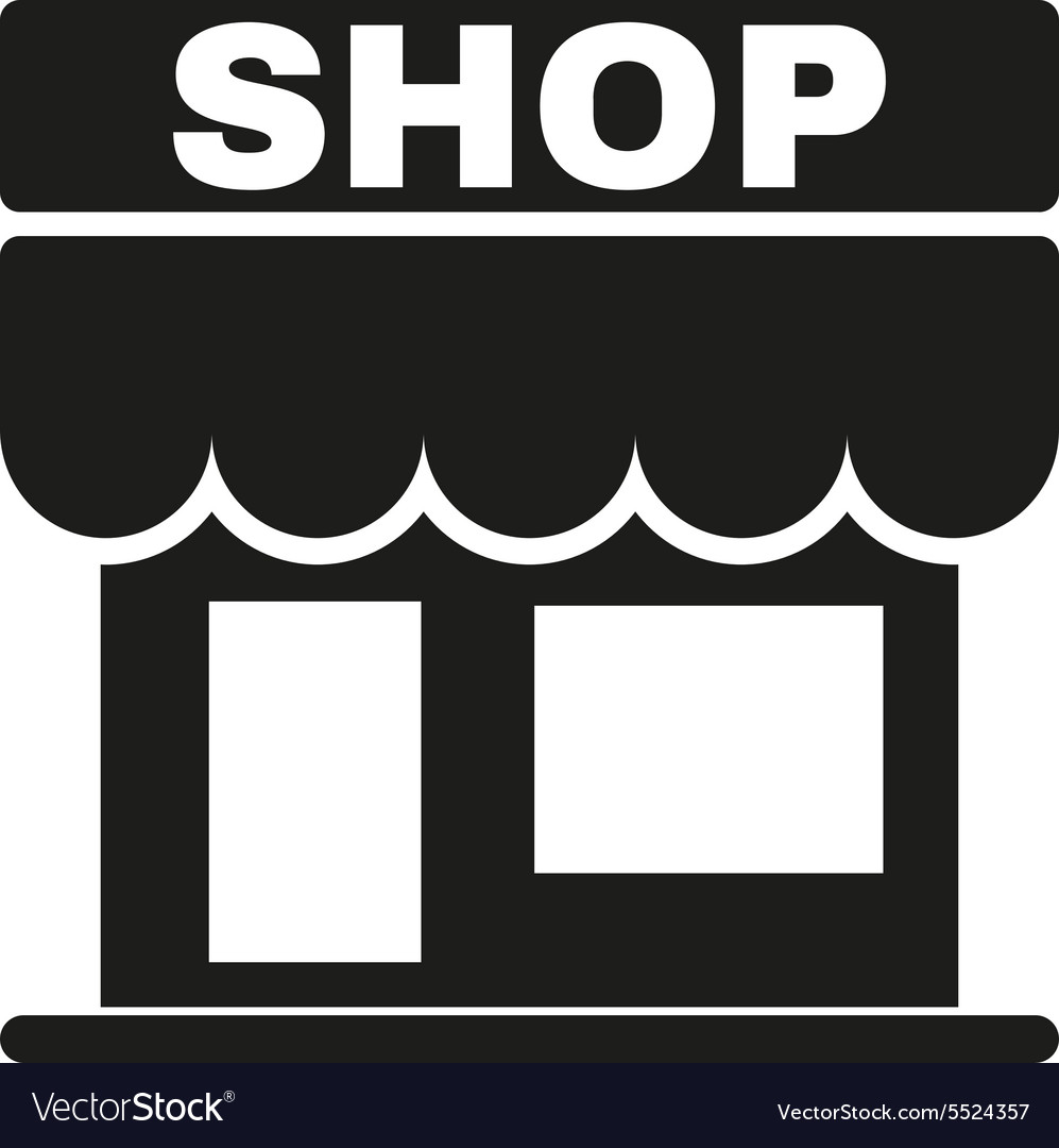 Shop icon store symbol flat vector