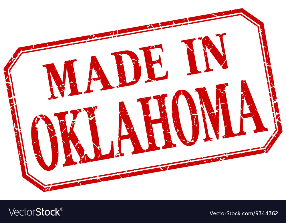 Oklahoma  made in red vintage isolated label vector