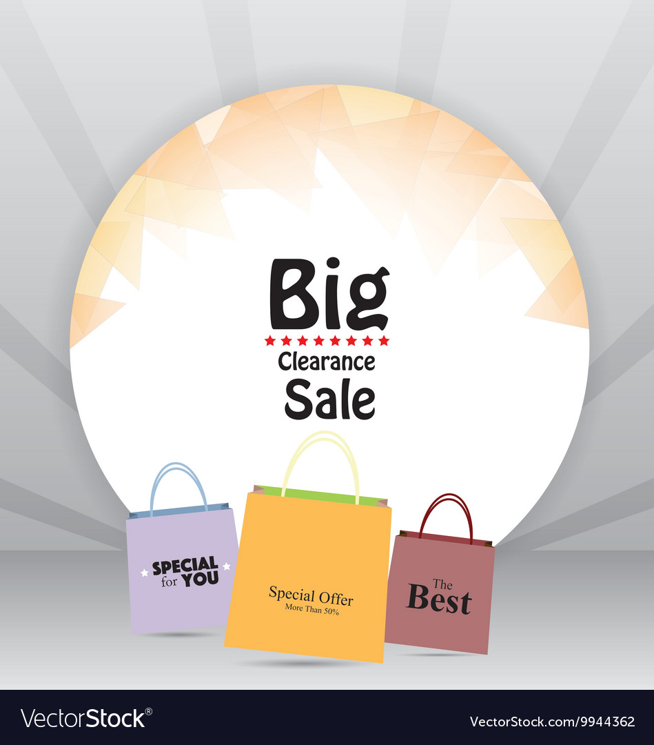 Sale tag price background vector