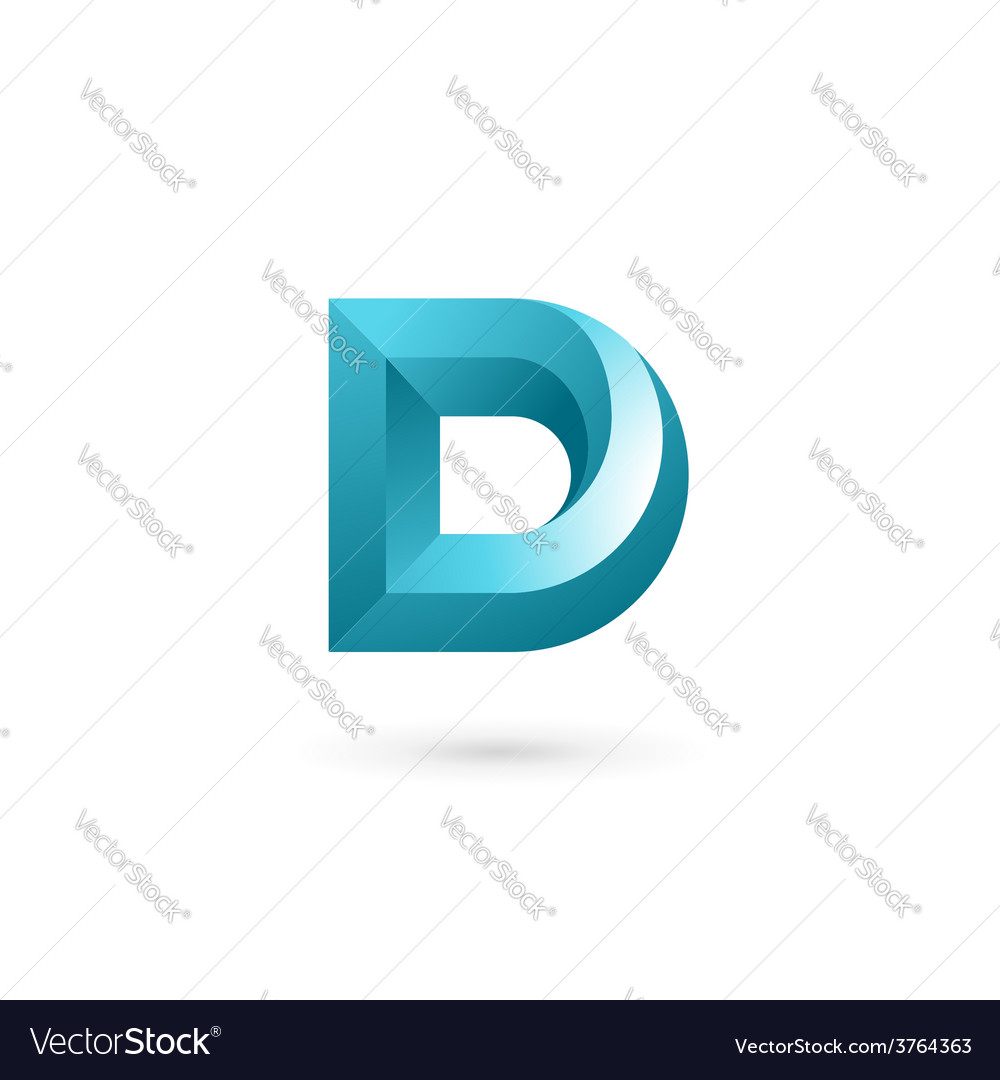 Letter d logo icon design template elements vector
