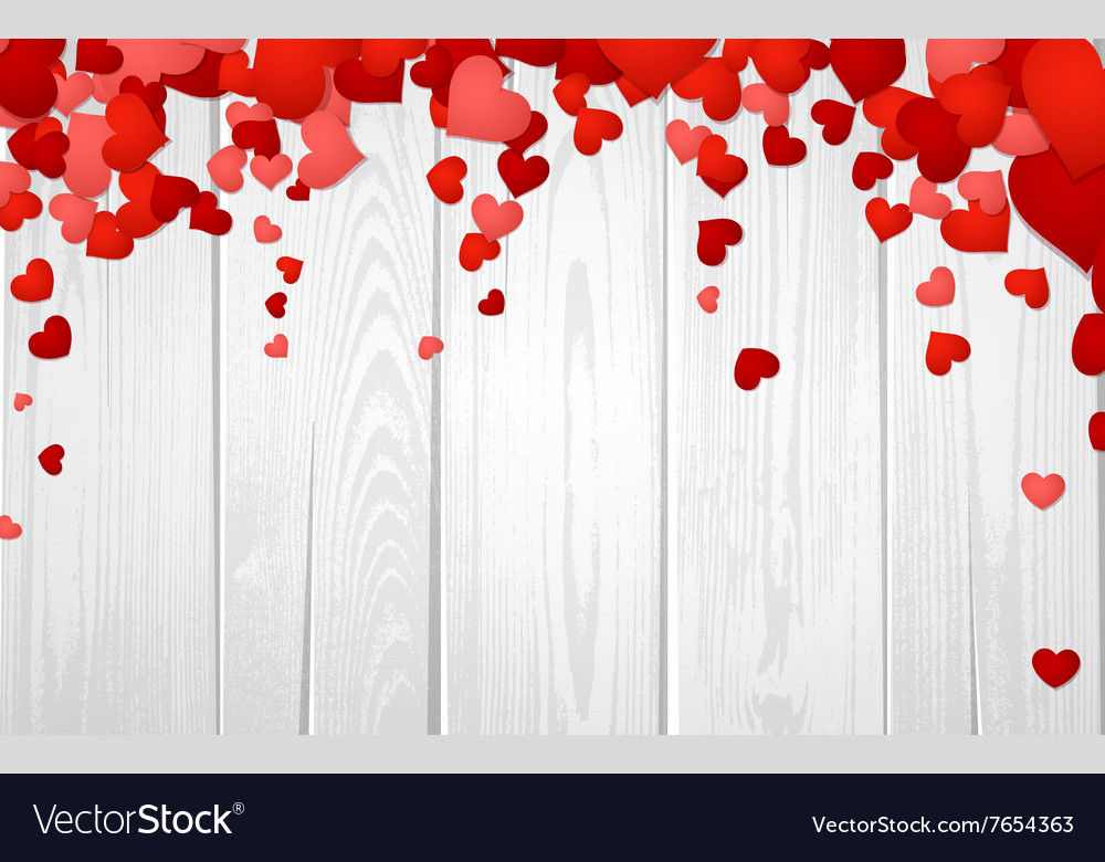 Valentines background with hearts vector