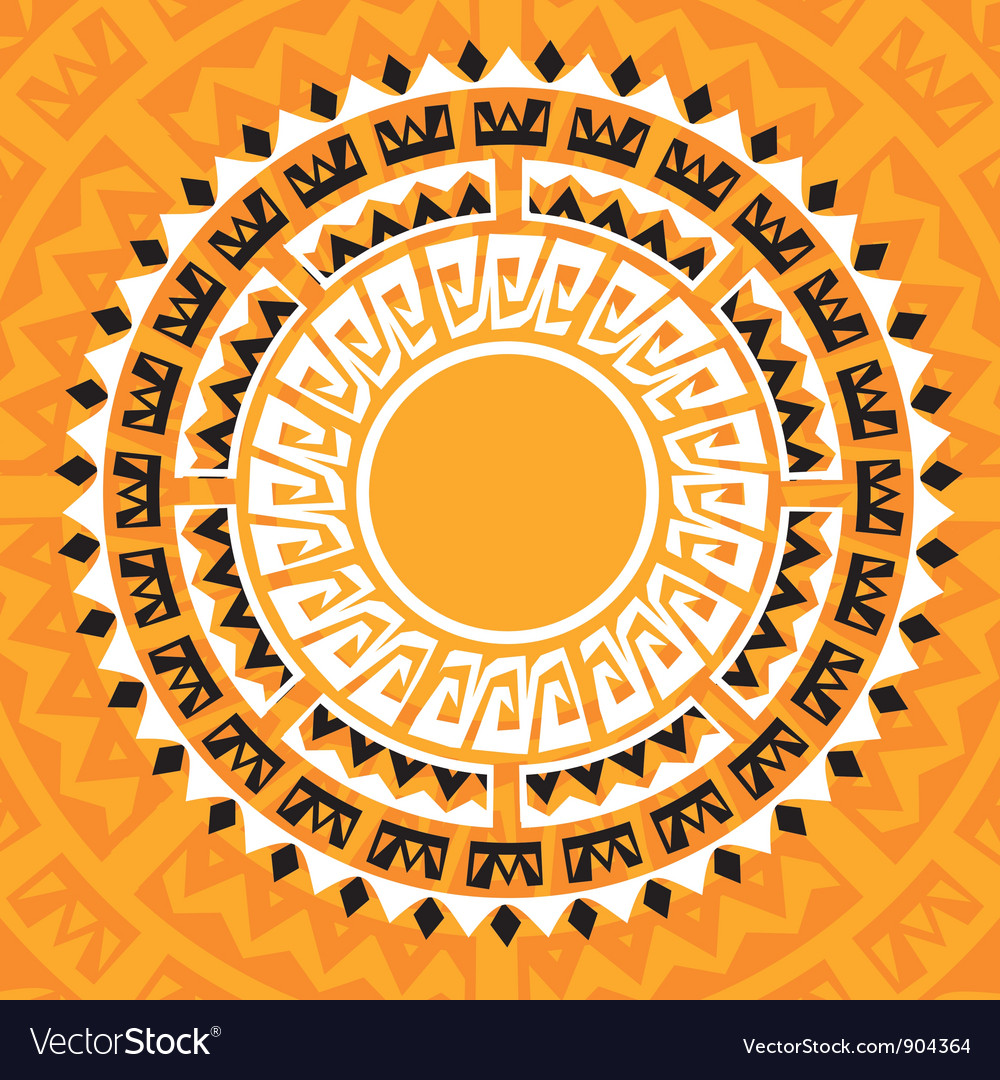 Sun madala in maya style  vector