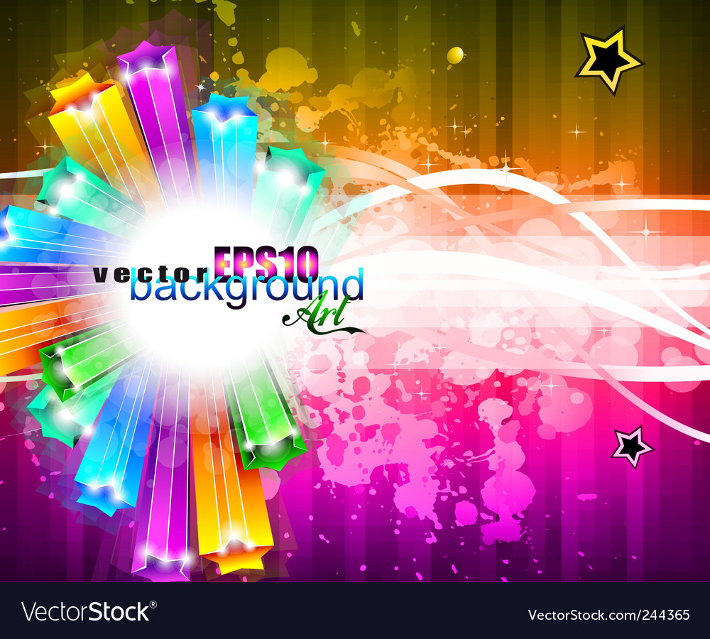 Rainbow stars background vector