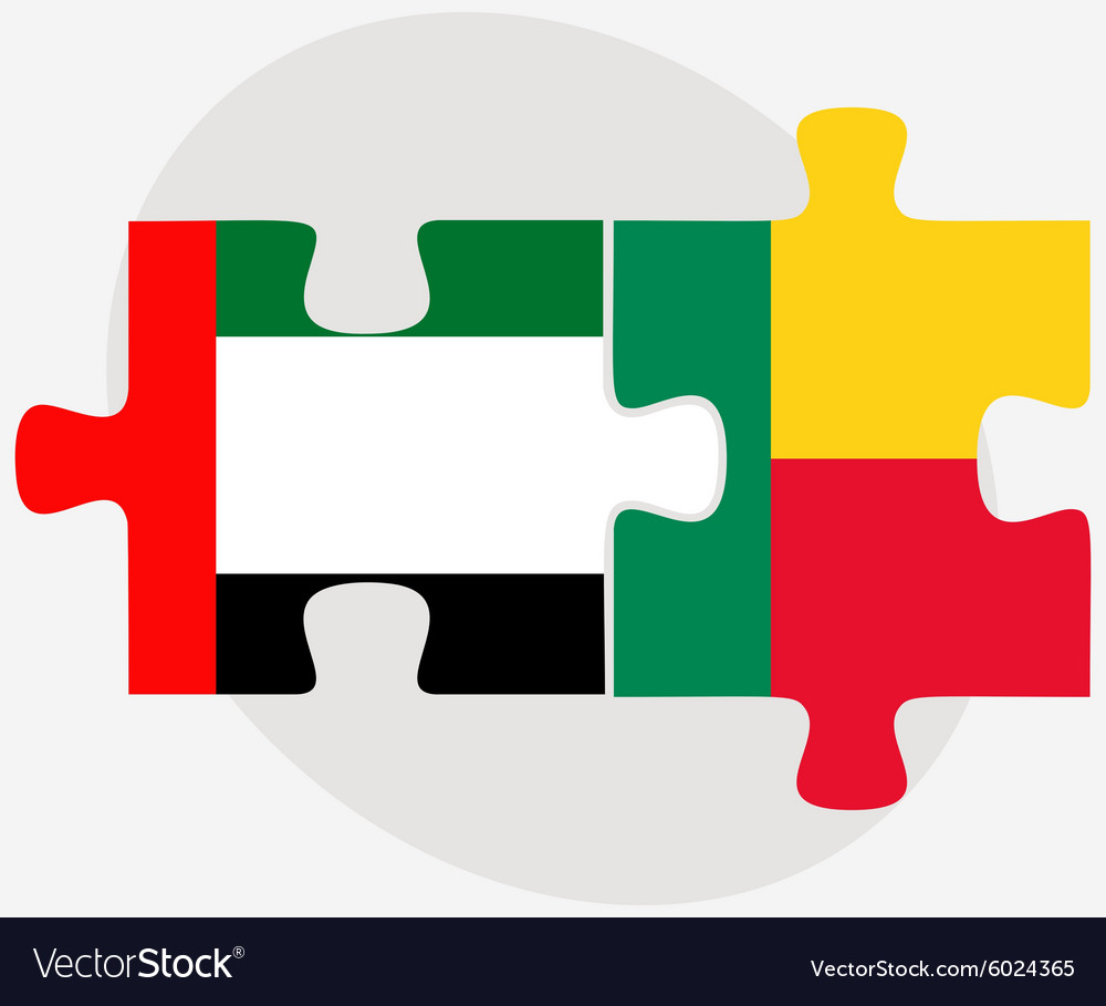 United arab emirates and benin flags vector