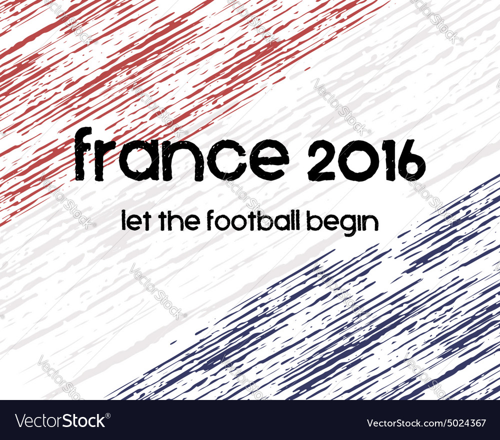 France 2016 football poster retro stylish france vector