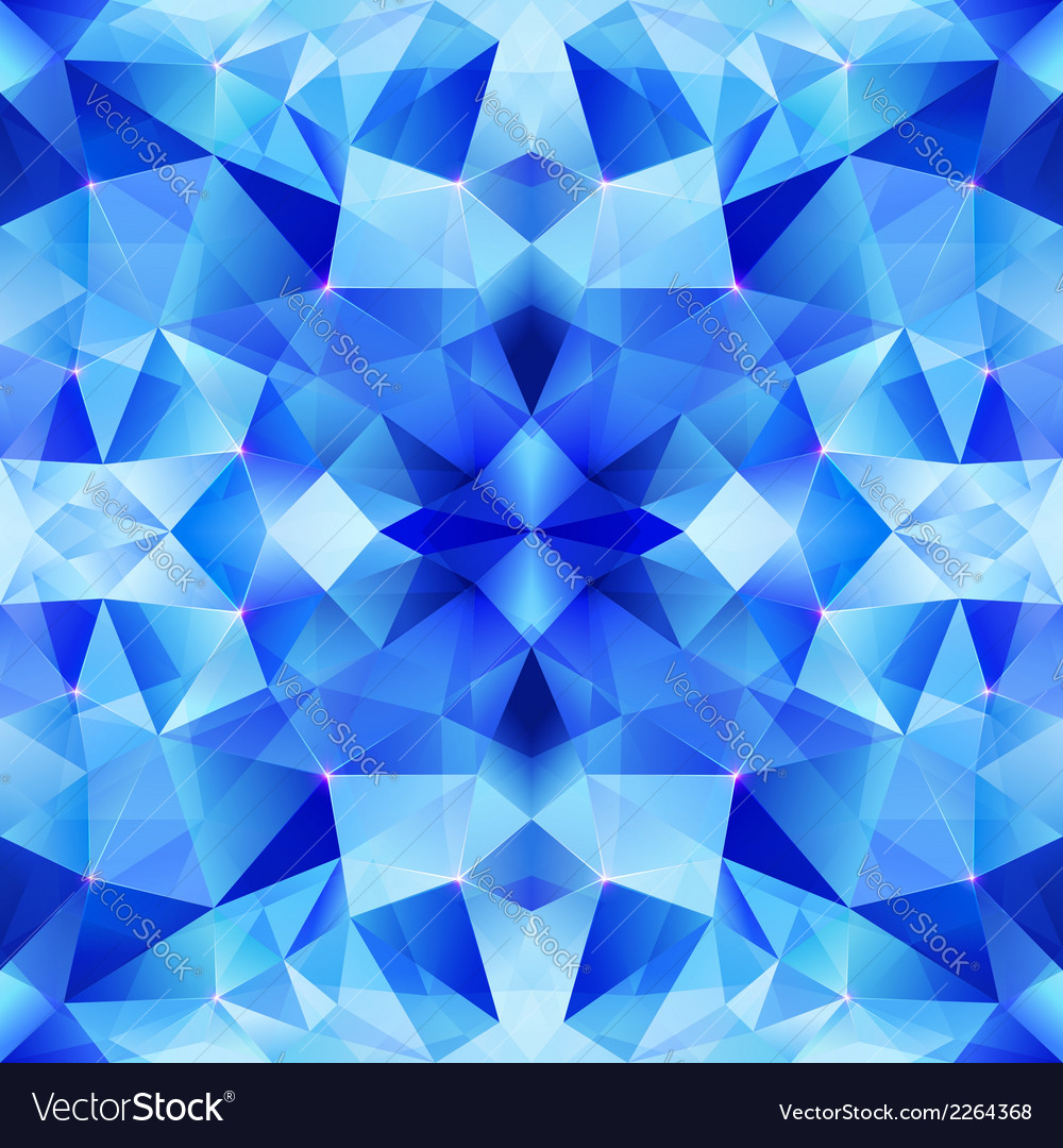Blue abstract shining ice seamless pattern vector
