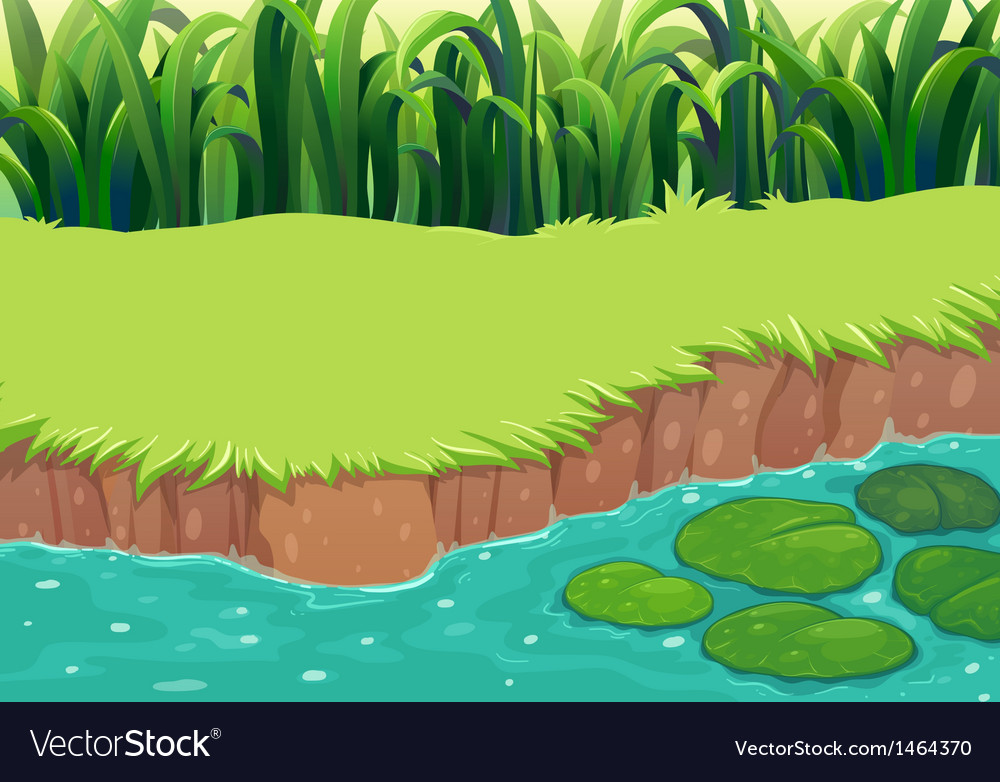 An image of a pond vector