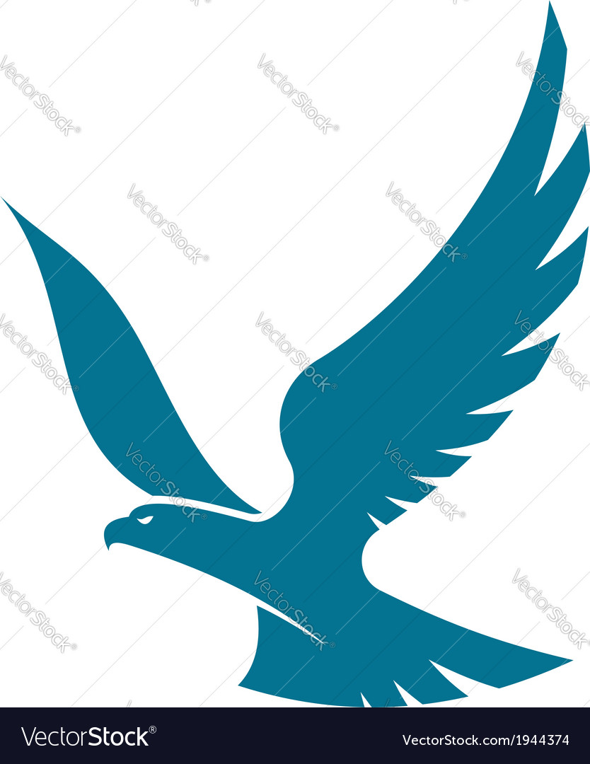 Graceful flying eagle vector