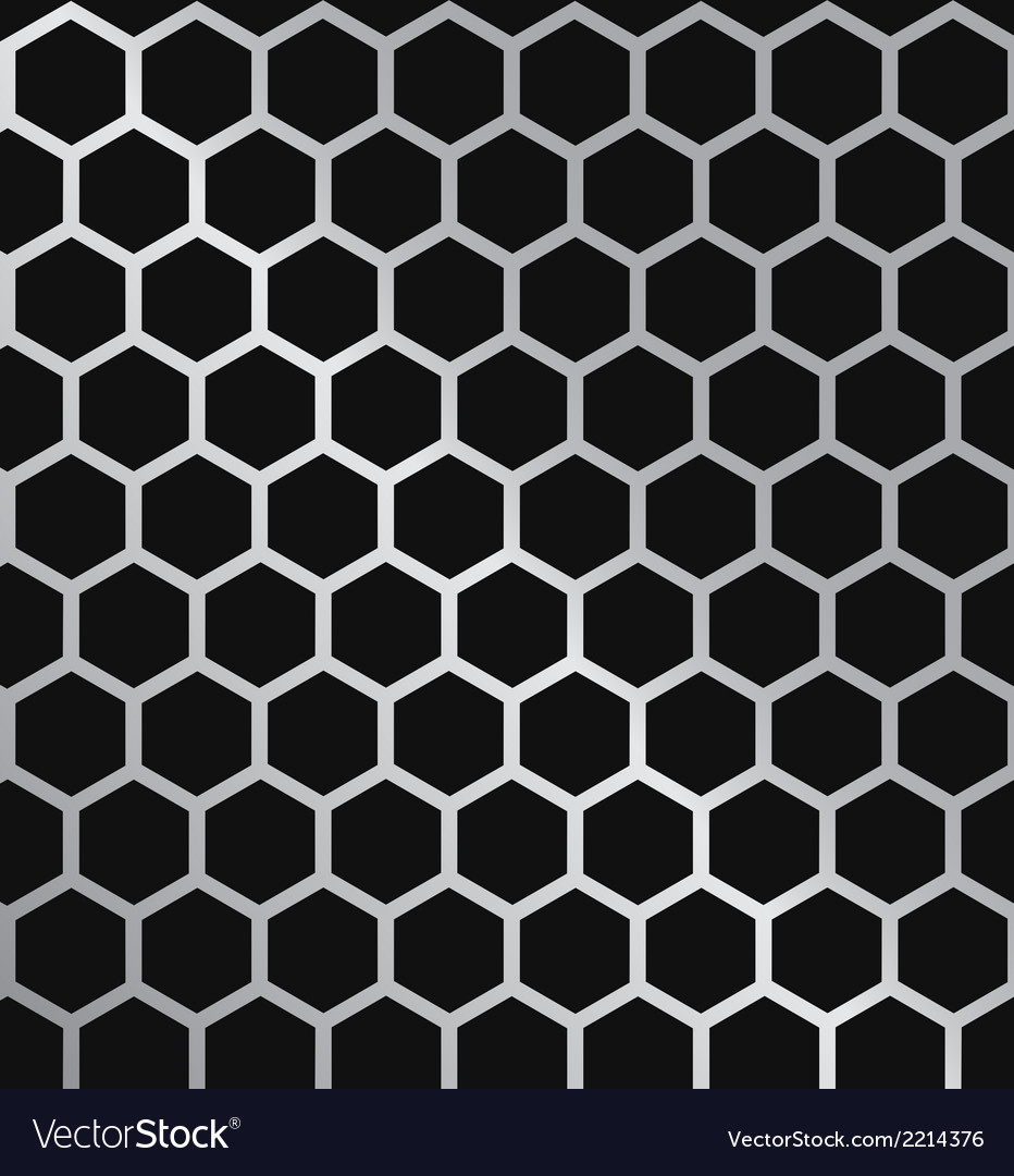 Metal hexagon grill vector