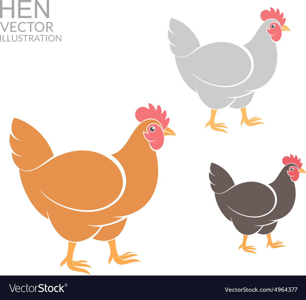 Hen set vector