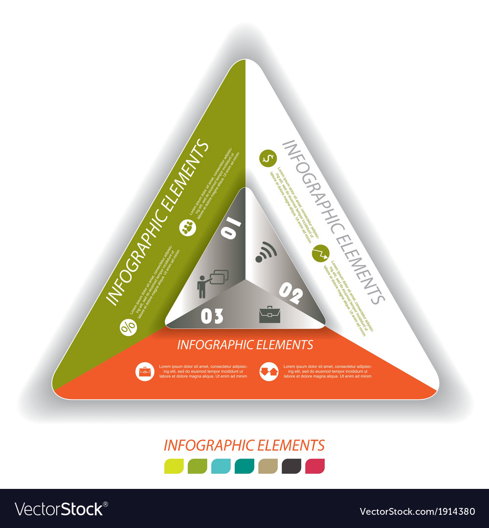 Modern infographic template with triangle vector