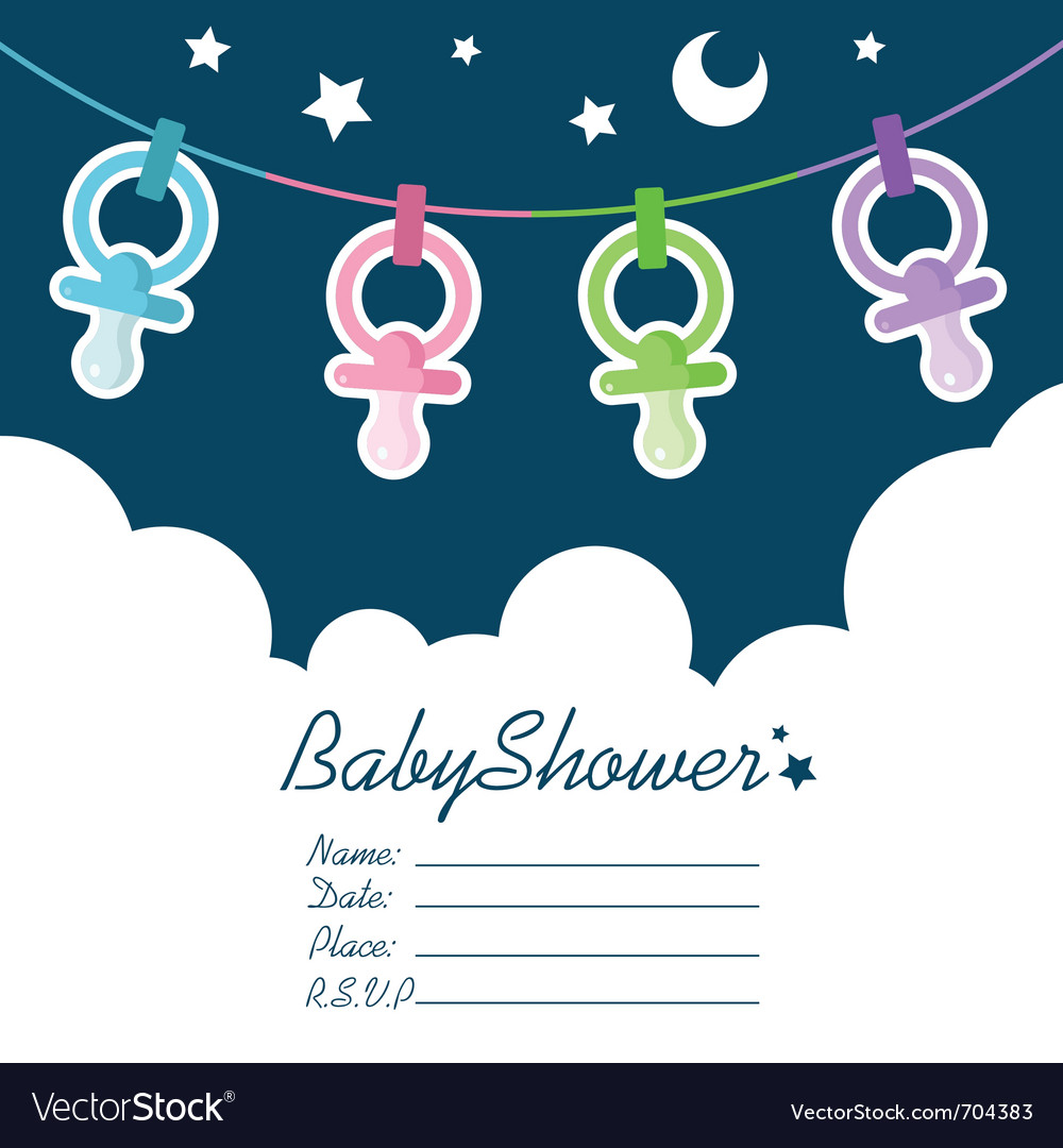 Baby shower invitation vector