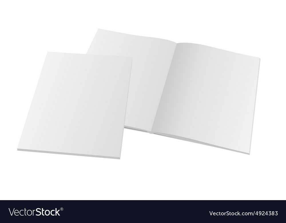 Blank opened magazine with cover vector