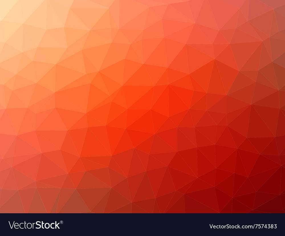 Redorange low poly background vector