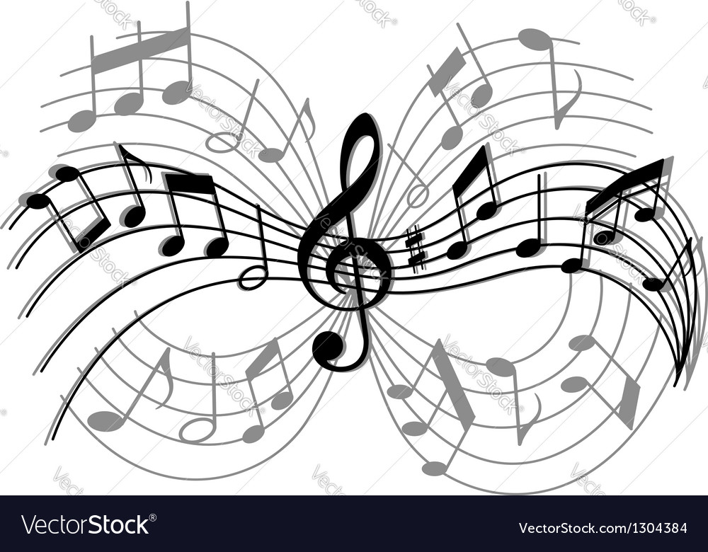 Abstract musical composition vector