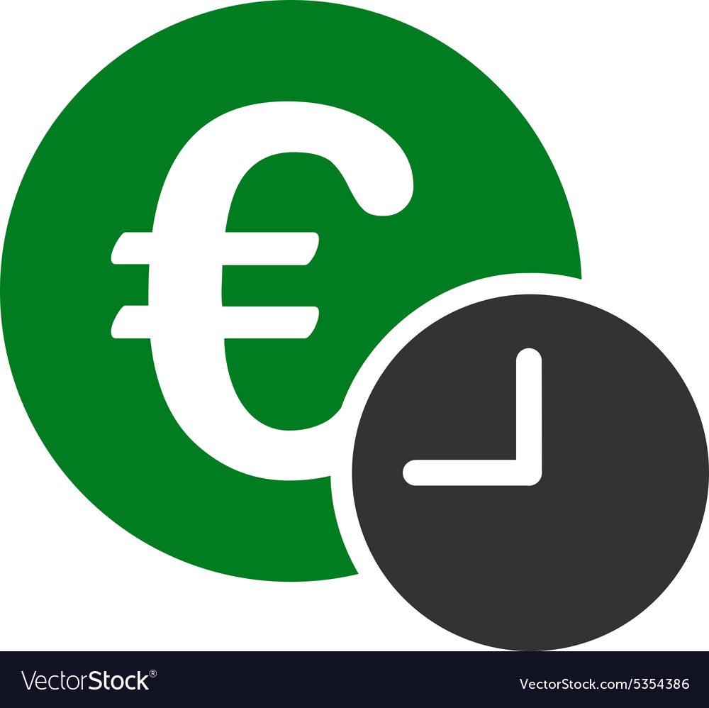 Euro credit icon from business bicolor set vector