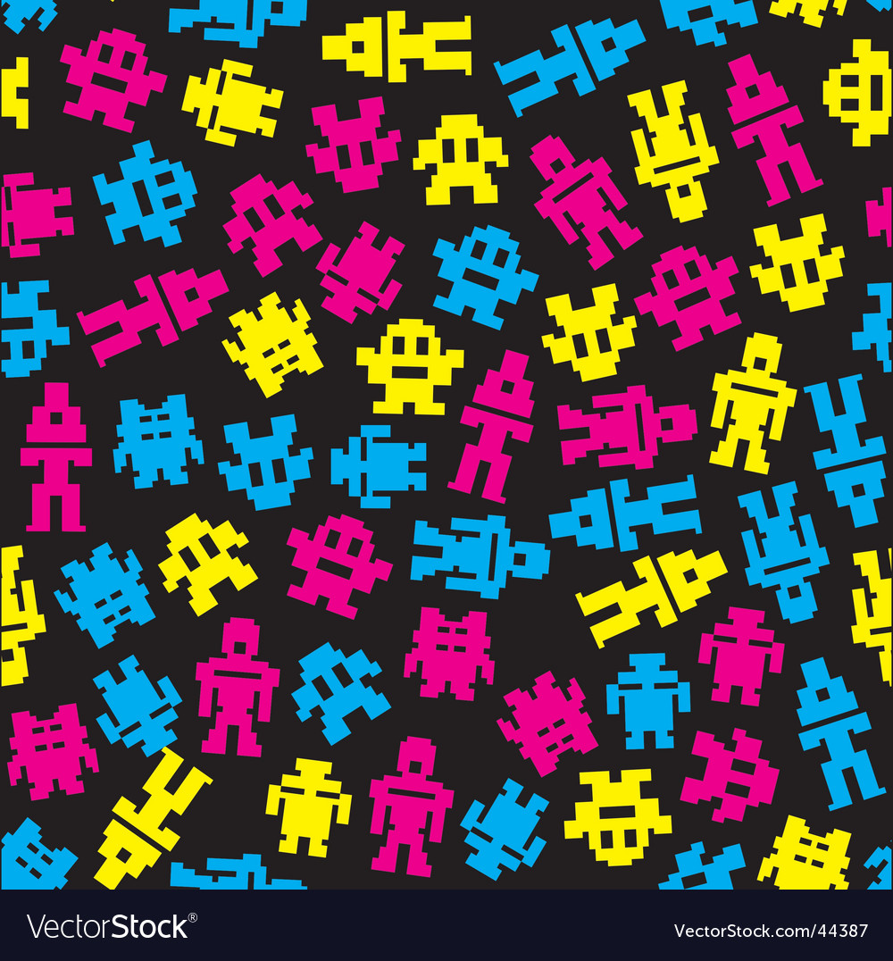 Invaders pattern vector