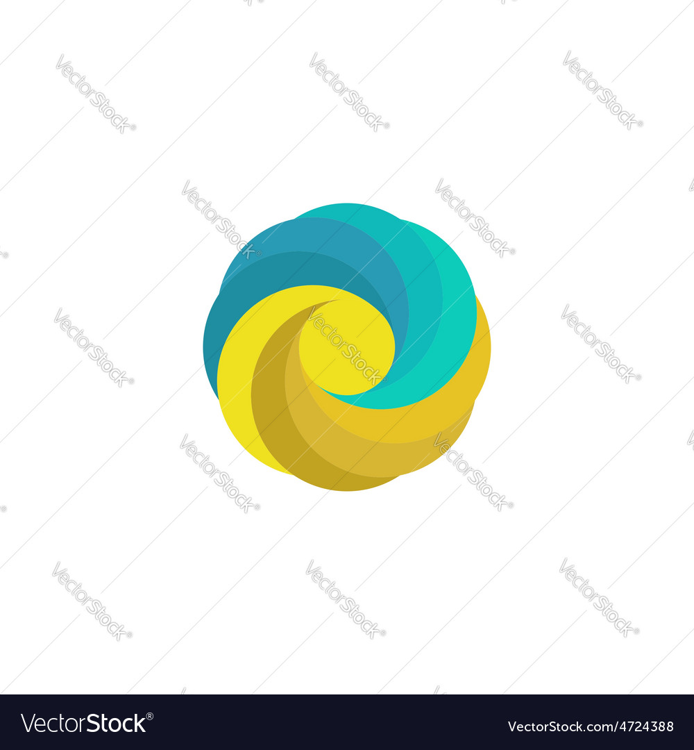 Abstract mockup travel logo sand sun wave paradise vector